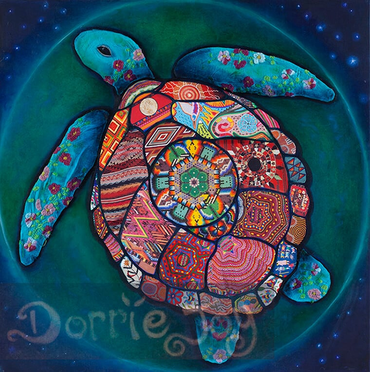 'Grandmother Turtle' copyright Dorrie Joy, Artist