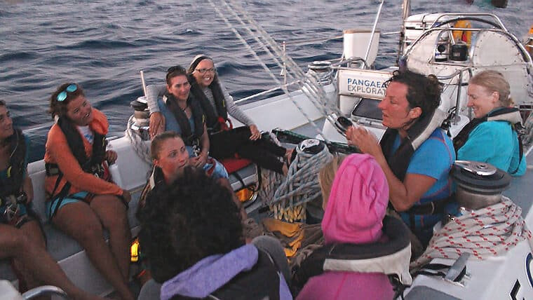 Storytelling at sea as part of eXXpedition