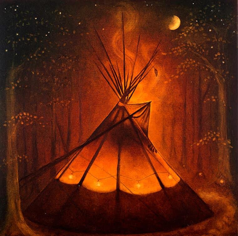 'Tipi' copyright Dorrie Joy, Artist